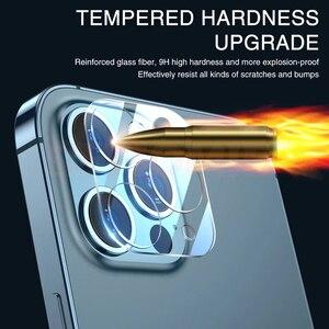 Image 4 - 9000D 전체 커버 카메라 렌즈 보호 유리 아이폰 12 11 프로 최대 강화 유리 아이폰 X XS XR XS 최대 후면 렌즈 유리