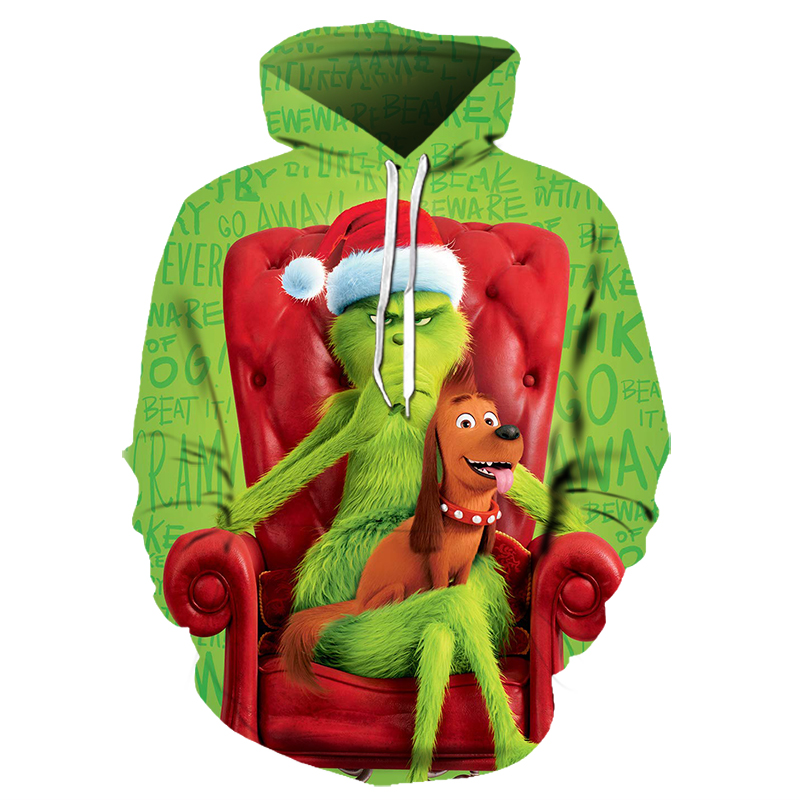 Large Size Top 3D Print Green Lion Hoodies Men And Women Pullovers Hooded#001