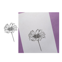 Jcarter Clear Stamps Flower Chrysanthemum Rubber Silicone Stamp Scrapbooking for Card Making Craft DIY Decor Tool New 2019