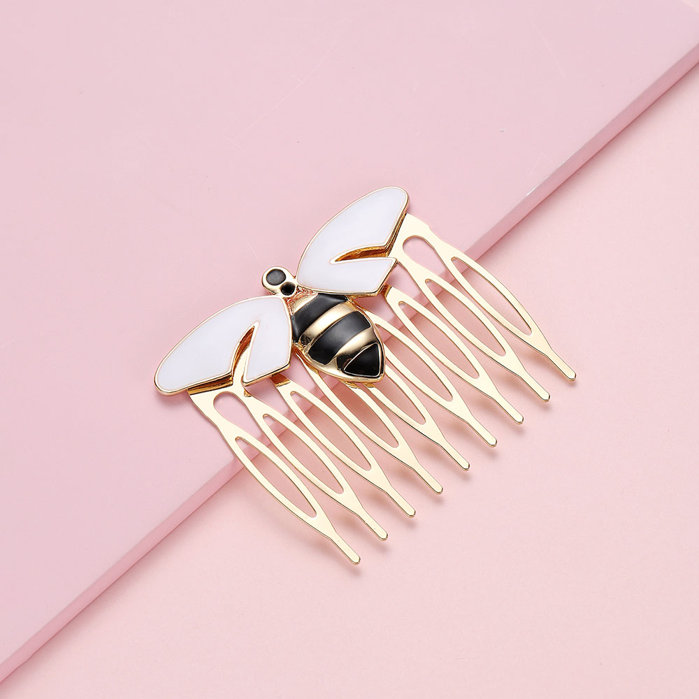 Hanreshe Ladybug Hairpin Women Cute Cat Noir Peacock Hair with Gold Beads Hairwear Costume Gift for Kids Girls Anime Jewelry