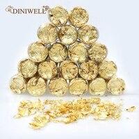 20Bottles Edible Gold Leaf Sheets Elevate Cake Decorations Gilding Desserts Gold Glitter Dust Flakes Genuine 24K Dessert Decor