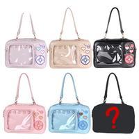 Korean Sweet Lolita Camera Itabag Messenger Bag Japanese Soft Girl JK Uniform Backpack PVC Transparent Kawaii Shoulder Bags