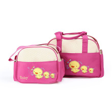 New Product Cute Cartoon Small Yellow Duck Mummy Bag 3 Piece Set Multi-Function Large Capacity Mother And Baby Shoulder