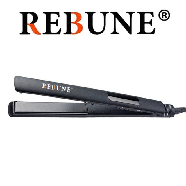 REBUNE RE-2023 Hair Straightener,Hair Styling Salon Grade Professional Ceramic Flat Iron Heat up quickly Hair Straightening