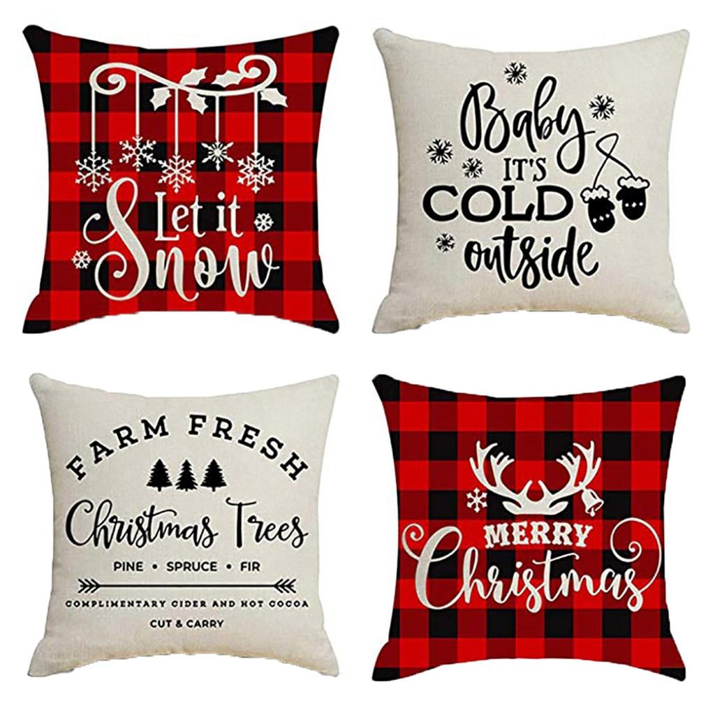 1-4pcs Bohemia Linen Geometric Pillowcase Cushion Cover Throw Sofa Waist Decor