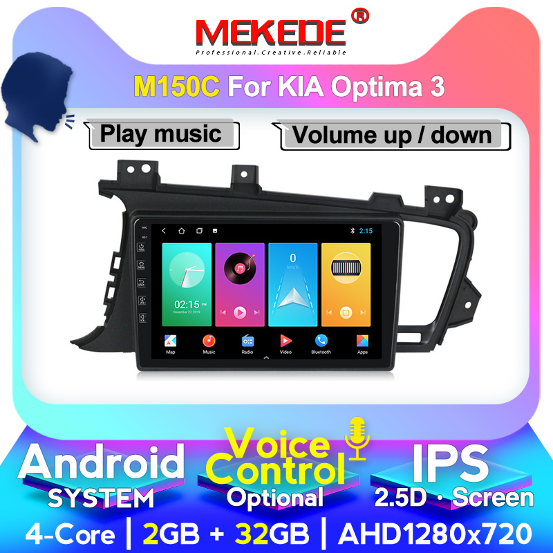 MEKEDE Android Unit IPS DSP Car Radio Multimedia Player For Kia K5 Optima 2011-2015 GPS Navigation Support Carplay 4G SIM Card
