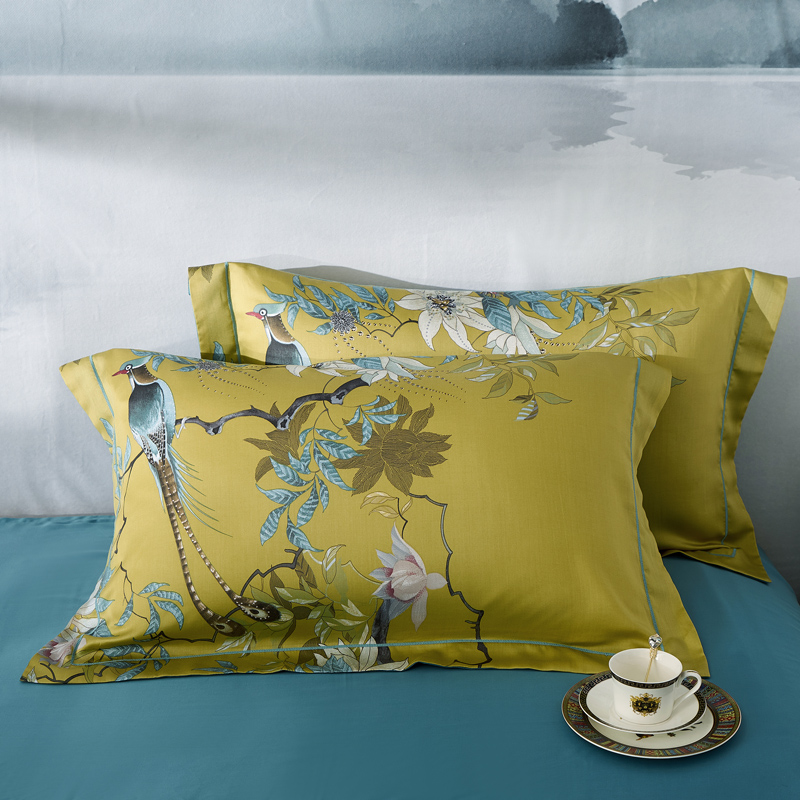 2pcs 100 Natural Silk Pillowcase High end quality Pure Silk Pillow Case A B double sided