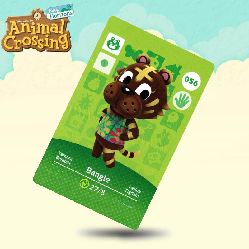 056 Bangle  Animal Crossing Card Amiibo Cards Work For Switch NS 3DS Games