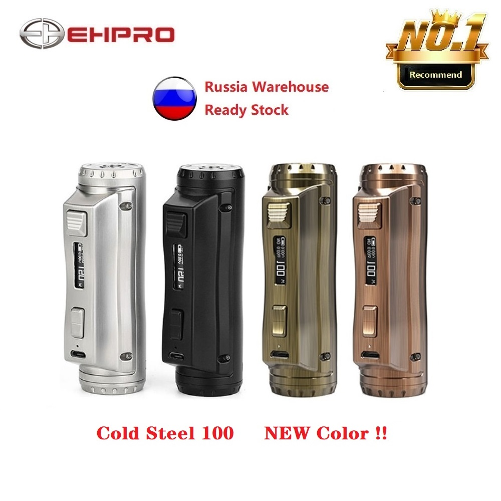 Original Ehpro Cold Steel 100 120W TC Box MOD With 0.0018S Ultrafast Firing Speed & Online Software Update Vs Cube Mod/ Drag 2