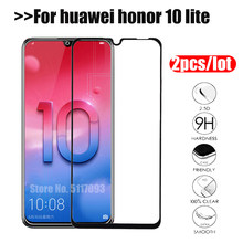 2 pcs/lot tempered glass for huawei honor 10 lite light screen protector p smart 2019 view 20 v20 nova 4 safety protective film(China)