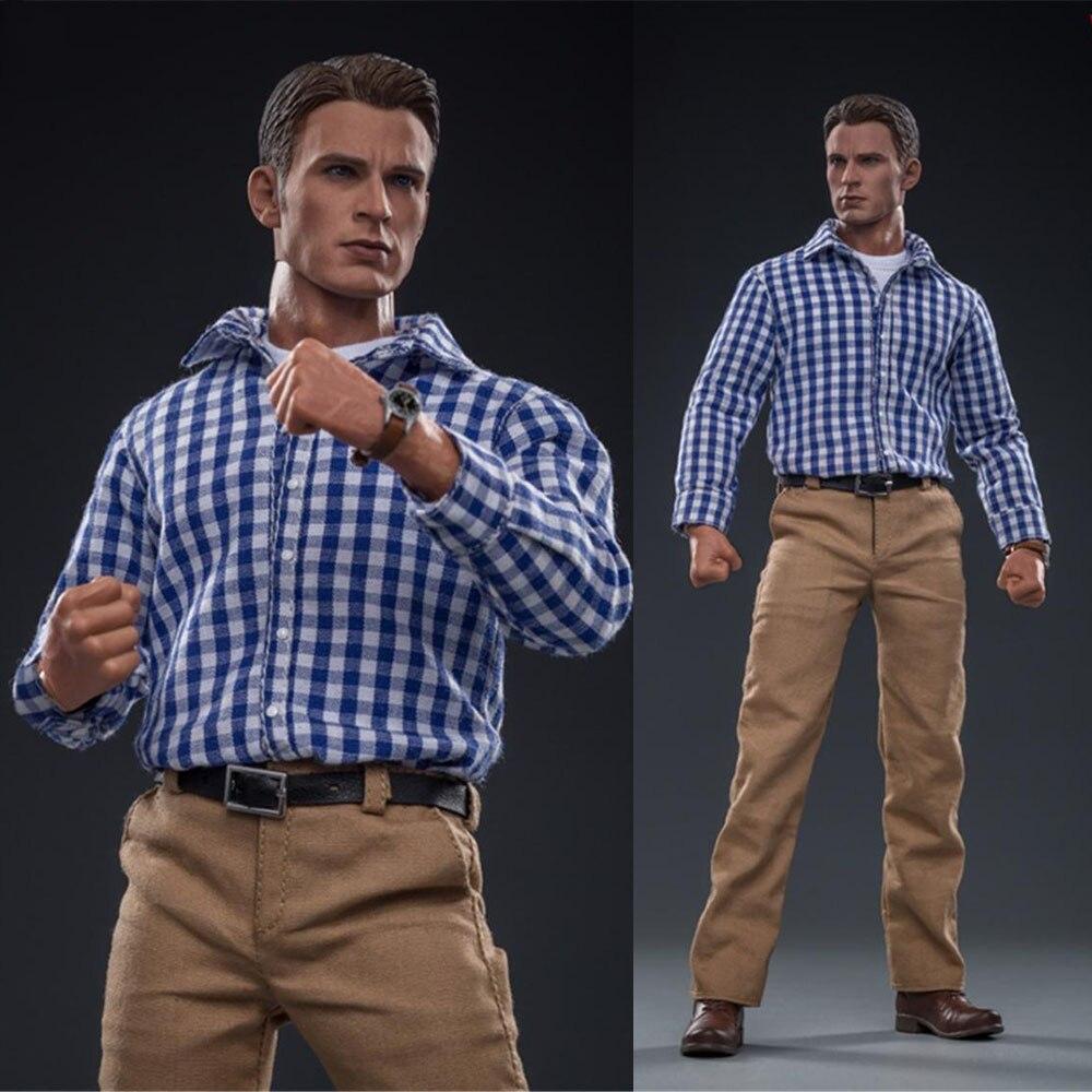 Fs024 1/6 escala figura masculina acessório avengers capitão américa steven rogers modo figura de ação conjunto completo brinquedo natal para os fãs