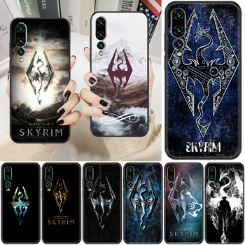 Game Skyrim Phone case For Huawei P Mate P10 P20 P30 P40 10 20 Smart Z Pro Lite 2019 black soft bumper fashion coque trend image