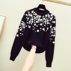 Black Embroidered Fl...