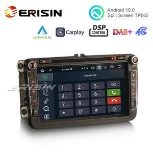 "Image 2 - Erisin 8105 8 ""Android 10.0 araba Stereo Carplay DSP DAB + WiFi USB GPS VW Passat Golf için 5/6 polo Amarok Tiguan Bora Skoda Seat"