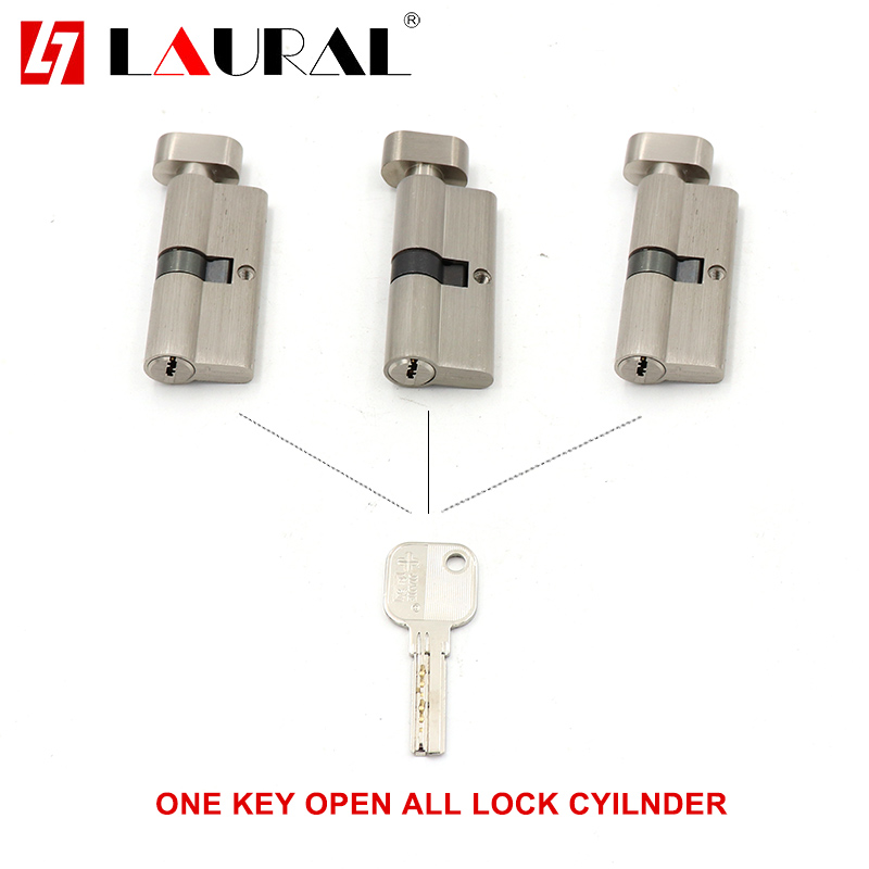 One Key For All Cylinder 55 60 65 70 75 80 85 90 Security  Copper  Lock Cylinder  Interior Bedroom  Living  Handle  Brass Key