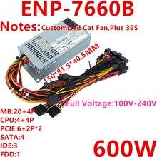 New PSU For Enhance FLEX NAS Small 1U LOLI M41 A4M T34 K35 K39 K49 600W Power Supply ENP 7660B