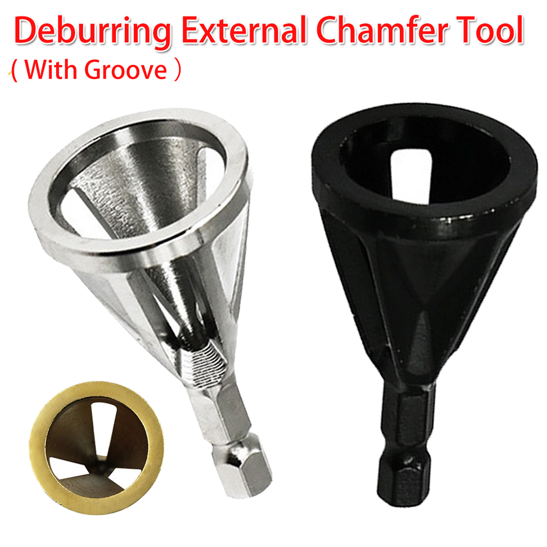 Hardness Drill Bit Stainless Steel Deburring External Chamfer Tool High Strength Remove Burr 1/4 Shank For Copper/ Wood/ Plastic