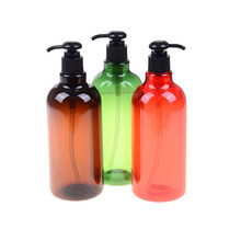 1PCS 500ml Plastic Lotion Flessen Met Lotion Pomp Voor Shampoo Lotion Hervulbare Flessen Home Hergebruik(China)