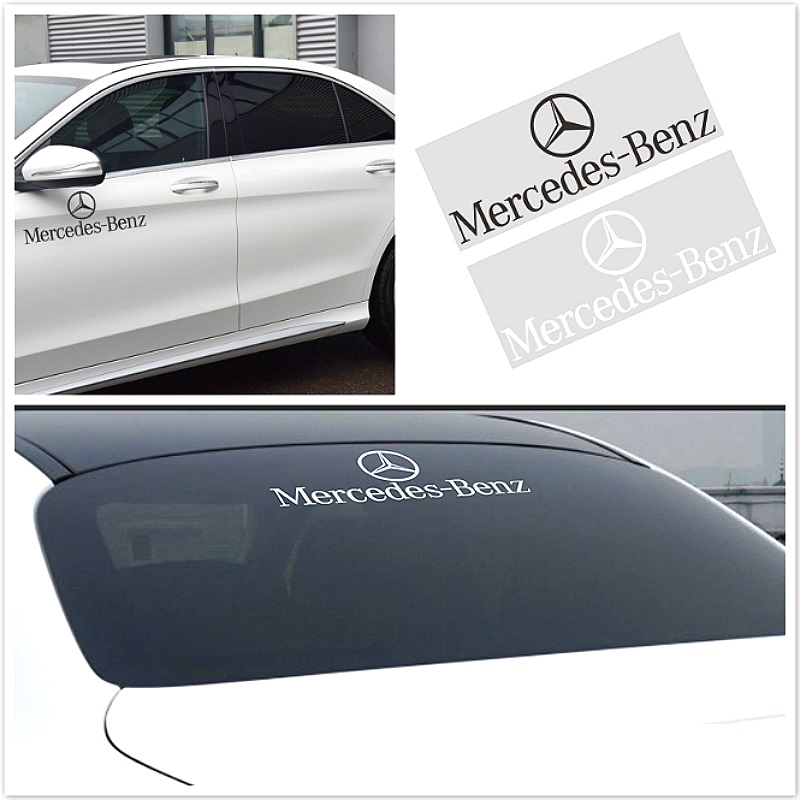 1pcs Car Window Glass Logo Sticker Car Body Sticker For Mercedes Benz GLK GLA C200 E200 S400 S500 S600 A B R G Class Accessories