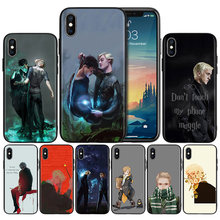 Silicone Case Shell for IPhone XR XS Max X 7 8 6 6S Plus 11 11Pro Max 5 5S SE 5C 7Plus 8Plus Cover Draco Malfoy Phone Back Shell(China)