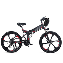 26inch electric mountian bicycle 48V400W high speed double lithium battery range100km Soft tail EBIKE fold electric