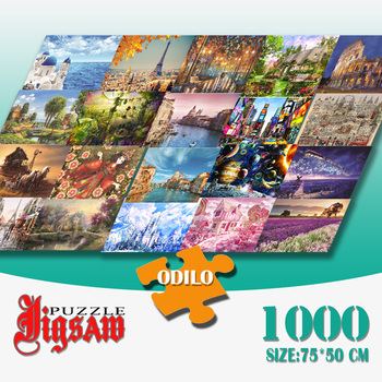 3D Jigsaw Puzzles 1000 Pieces Paper  Toys Educational for Chilren Adults Decorations Sublimation Blanks