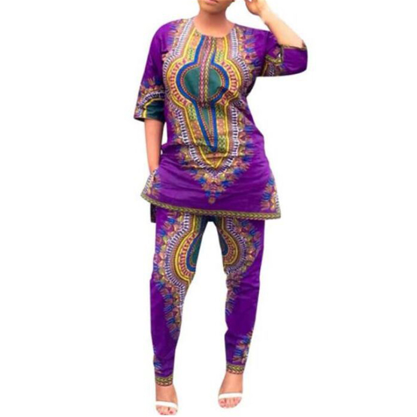 African Clothes For Women 2020 News Bazin Lace Dashii Print Top Pants Suit Party African Dresses Robe Full Sleeve Clothing