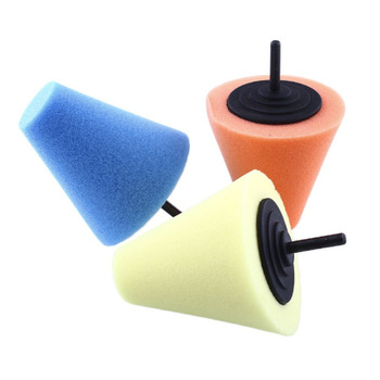2017 new Burnishing car Automotive Foam Sponge Polishing Cone Shaped Buffing Pads For Car Wheel Hub Care Metal Pad Soft Type image