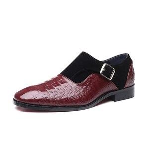 Image 2 - 2020 בעבודת יד עור אבזמי גברים של שמלת נעלי עסקי נעלי אוקספורד פורמליות חתונה משרד גבר נעלי הנעלה לנשימה