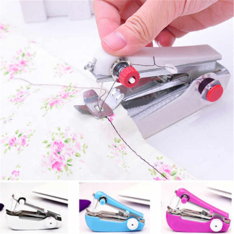 Portable Mini Cordless Handheld Electric Sewing Machine Handheld Sewing Machine Quick Handy Stitch for Fabric Clothing Kid Cloth
