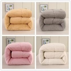 Quilts cotton patchwork duvets Australian lambs wool Warm comforter camel quilt Thicken warm duvets winter comforter patchwork