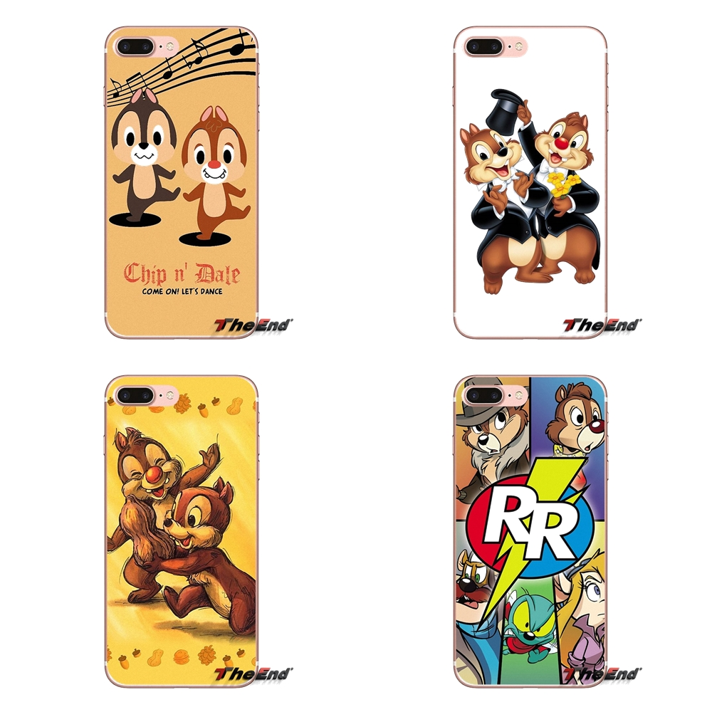 For Apple iPhone X 4 4S 5 5S SE 5C 6 6S 7 8 Plus 6sPlus 6Plus 7plus 8plus Chip and Dale Soft Transparent Cases Covers