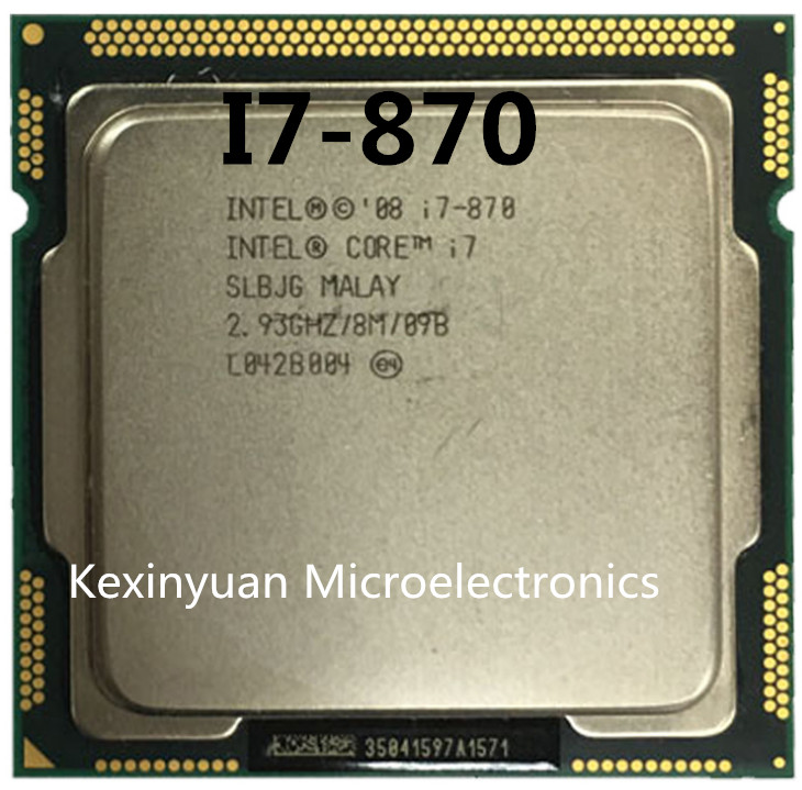 Intel Core <font><b>I7</b></font> 870 <font><b>I7</b></font>-870 <font><b>I7</b></font> Processor 2.9GHz/ 8MB Socket LGA 1156 CPU Supported memory: DDR3-1066, DDR3-1333 image