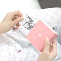 Phoemo mini portátil bluetooth impressora térmica bolso etiqueta recibo impressora compatível com ios + android