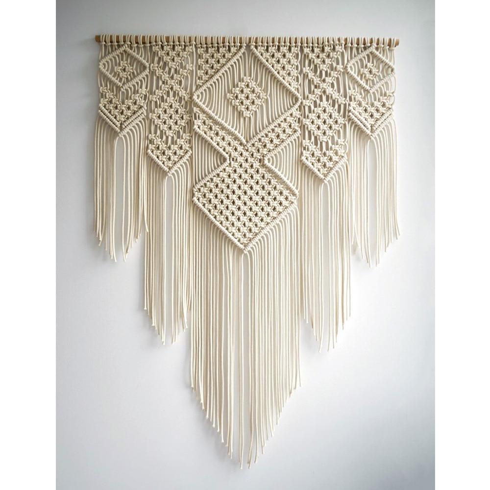 Bohemian wandtapijten boerderij home decor nordic macrame muur opknoping wandtapijten bloem van leven creative breien muur deken