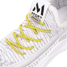 Shoelaces-Locking Metal Lazy-Laces No-Tie Reflective Elastic Round Quick Unisex Party
