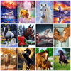 AZQSD Unframe Horse DIY Painting By Numbers Animals Kit Coloring By Numbers Wall Art Picture Acrylic Paint On Canvas Home Decor