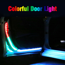 Okeen Car Door Welcome Light Strips Car Styling Auto Strobe Flashing Ambient Atmosphere Lights Safety LED Opening Warning Lamp