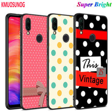 Black Silicone Cover Polka Dots for Xiaomi Redmi Note 8 7 6 5 4X 4 K20 Pro 7A 6A 6 S2 5A Plus Phone Case black glossy cover polka dots for xiaomi redmi note 8 7 6 5 4x 4 k20 pro 7a 6a 6 s2 5a plus phone case