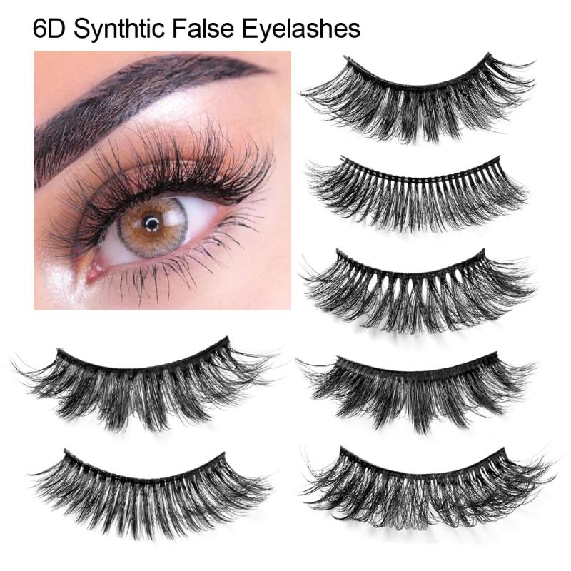 HANDAIYAN 12 Styles 100% Handmade False Eyelash 6D Winged Lashes Thick Fake Eyelashes Makeup Beauty Tool Full Strip Black False
