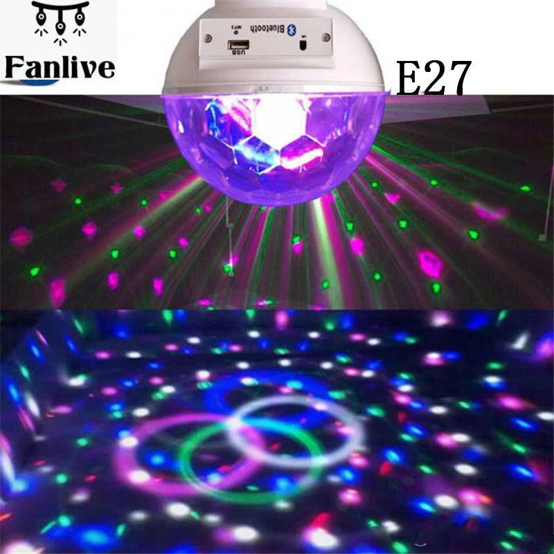 20 stücke LED Bühne Licht Kristall Magische Kugel LightBluetooth E27 LED Disco Licht Bluetooth Birne Bühne Beleuchtung RGB dj ausrüstung