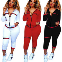 Goocheer Womens 2PCS Outdoor Tracksuit Hoodies Sweatshirt Gym Pants Sets Sport Wear Coat Women Fitness Suits