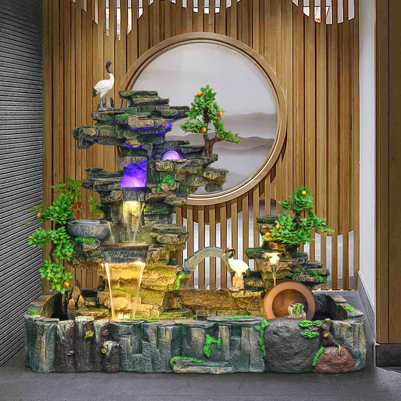 Large-scale Landing Rockery Water Fountain Feng Shui Ball Decoration Home Decoration Fish Tank Feng Shui