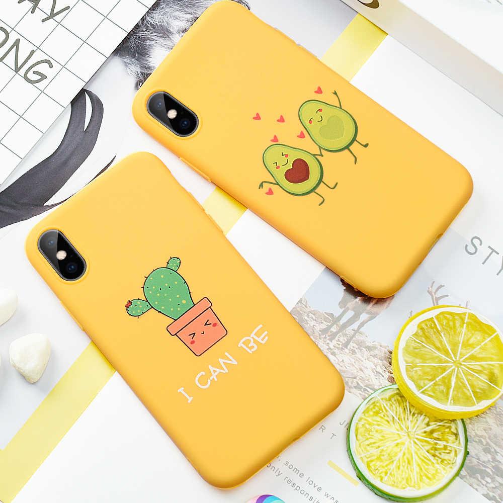 Caso de Telefone Padrão de abacate Para o iphone 11 XS Pro MAX XR X 7 8 6 6s Mais Suave Silicone caso TPU Fundas Coque Para o iphone 11 Pro MAX