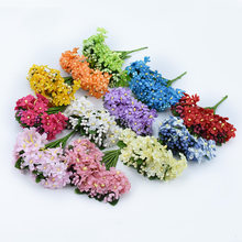 1 bunch / 6 pieces artificial bouquet daisy artificial flowers bride wedding decoration small chrysanthemum(China)