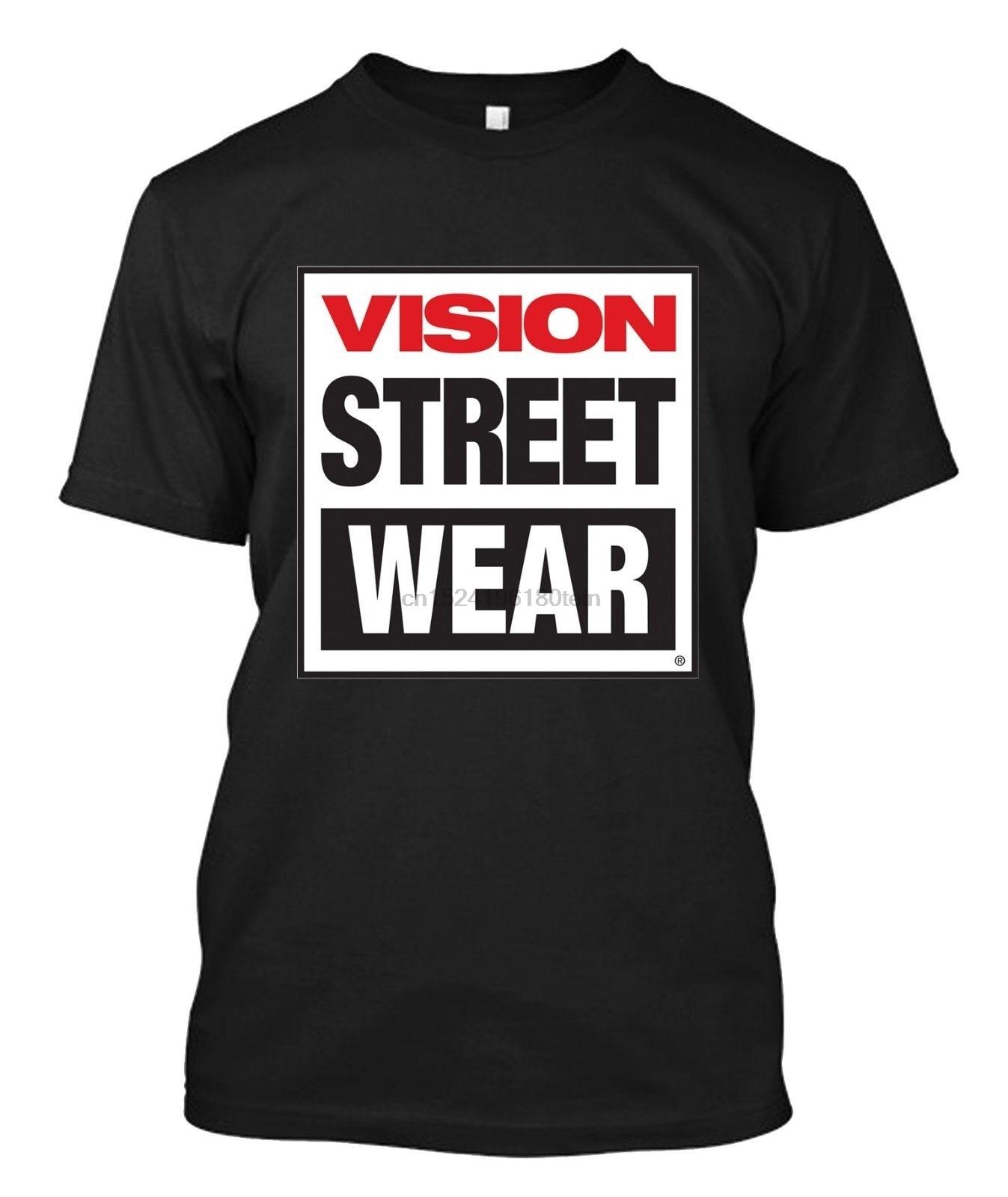 ASAP SHIRT Vision Street Wear Mens Classic Big Logo New Black T-Shirt S-3XL