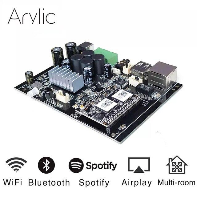 Up2stream WiFi and Bluetooth5.0 HiFi Stereo Class D digital multiroom 24V DIY audio music usb power amplifier dac board kit