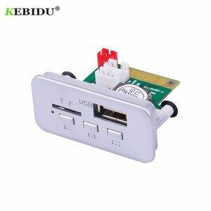 Image 2 - KEBIDU 5V 12V Car MP3 Player Decoder Board Audio Module Wireless FM Receiver Radio WMA FM TF USB 3.5mm AUX For Car accessories