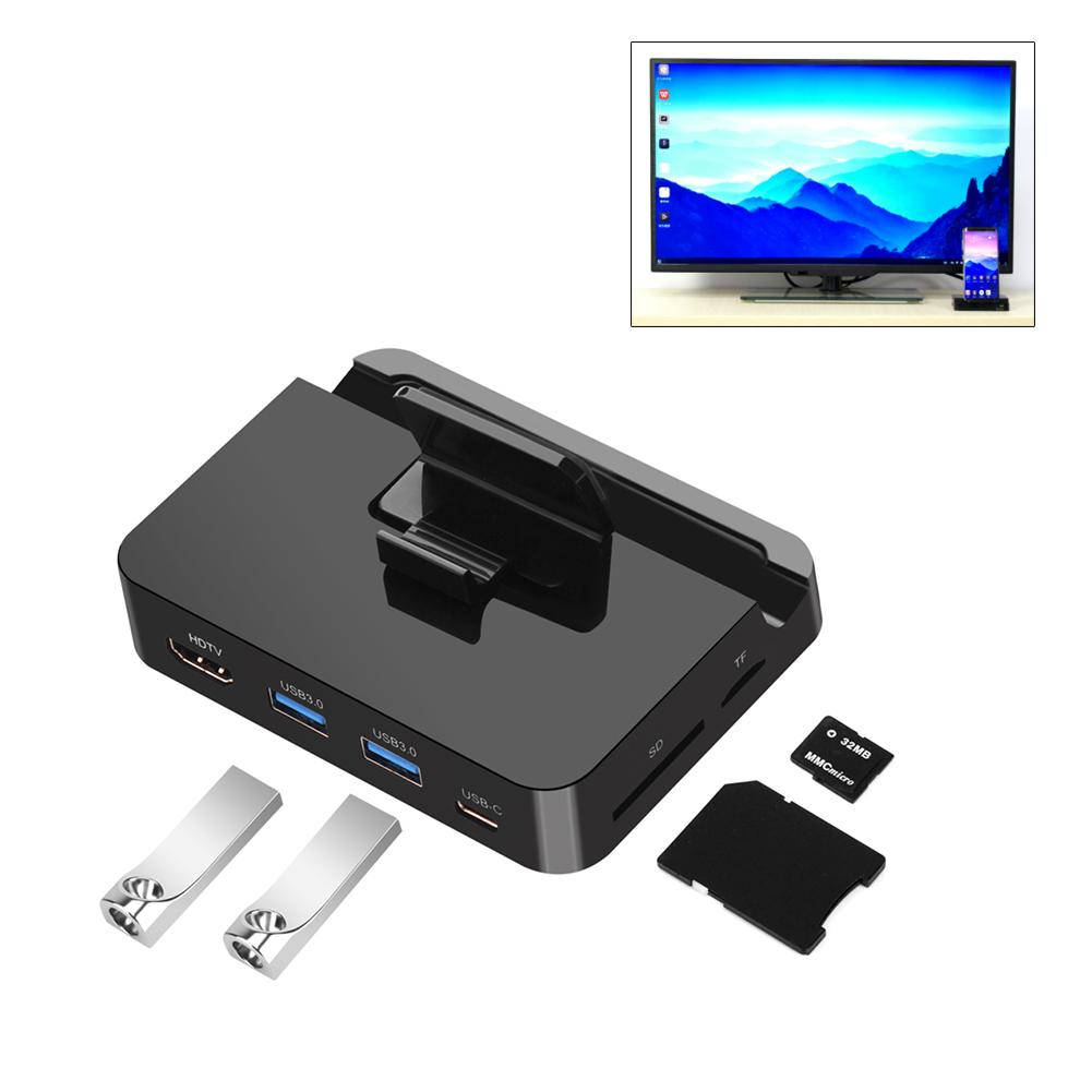 High Qualiity Type-C To HDMI Multifunctional HUB USB3.0 Card Reader Support For SD TF Huawei Mate10/Pro, P20/Pro