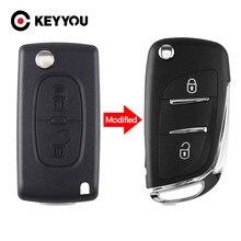 Keyyou 2/3 Knoppen Gewijzigd Flip Afstandsbediening Autosleutel Fit Voor Citroen Picasso C2 C3 C4 C5 C6 C8 CE0536 VA2/HU83 PCF7961 433 Mhz Ask/Fsk